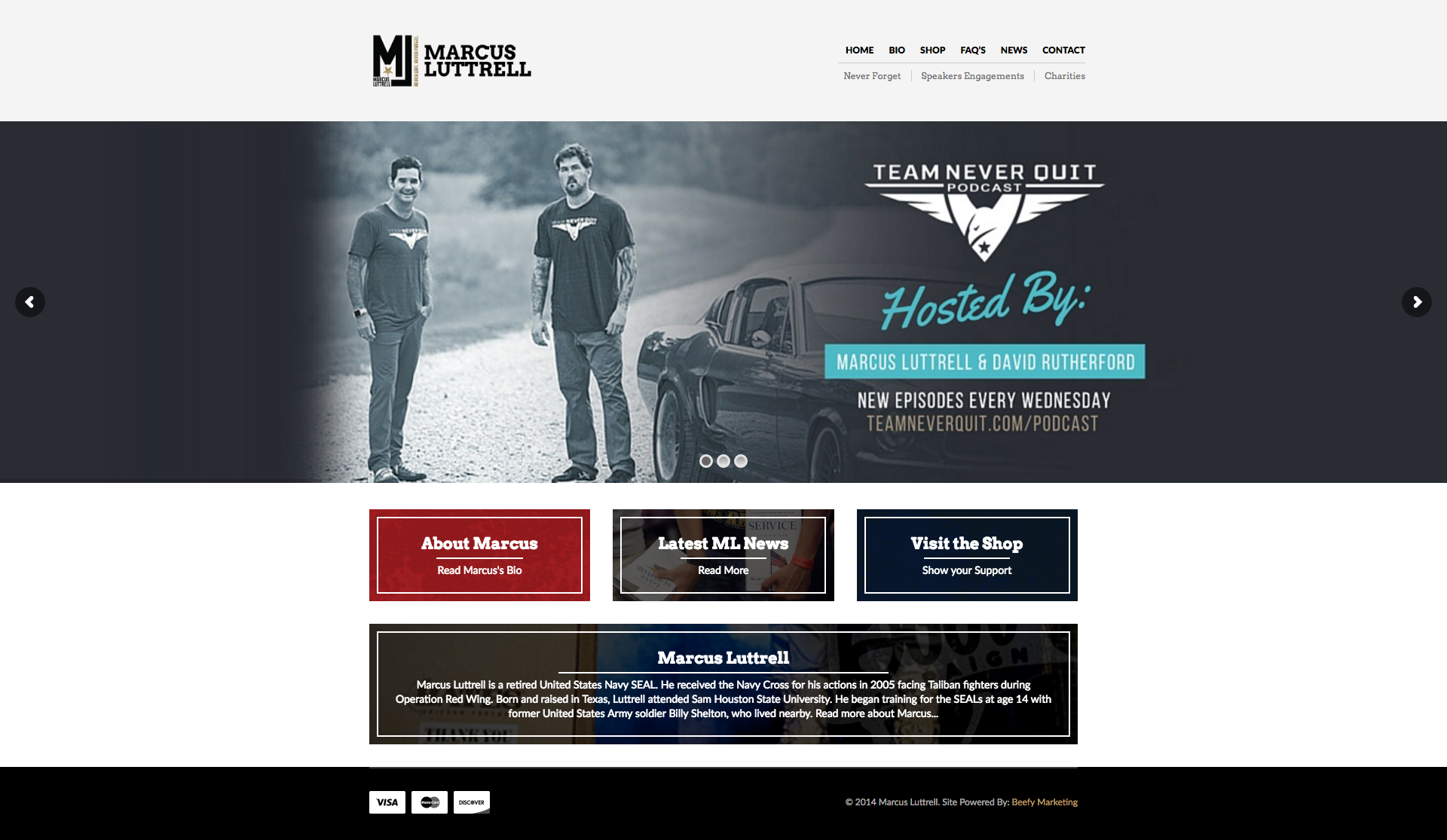 Website Design for Navy SEAL Marcus Luttrell
