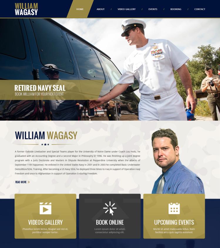 Navy SEAL Website Design